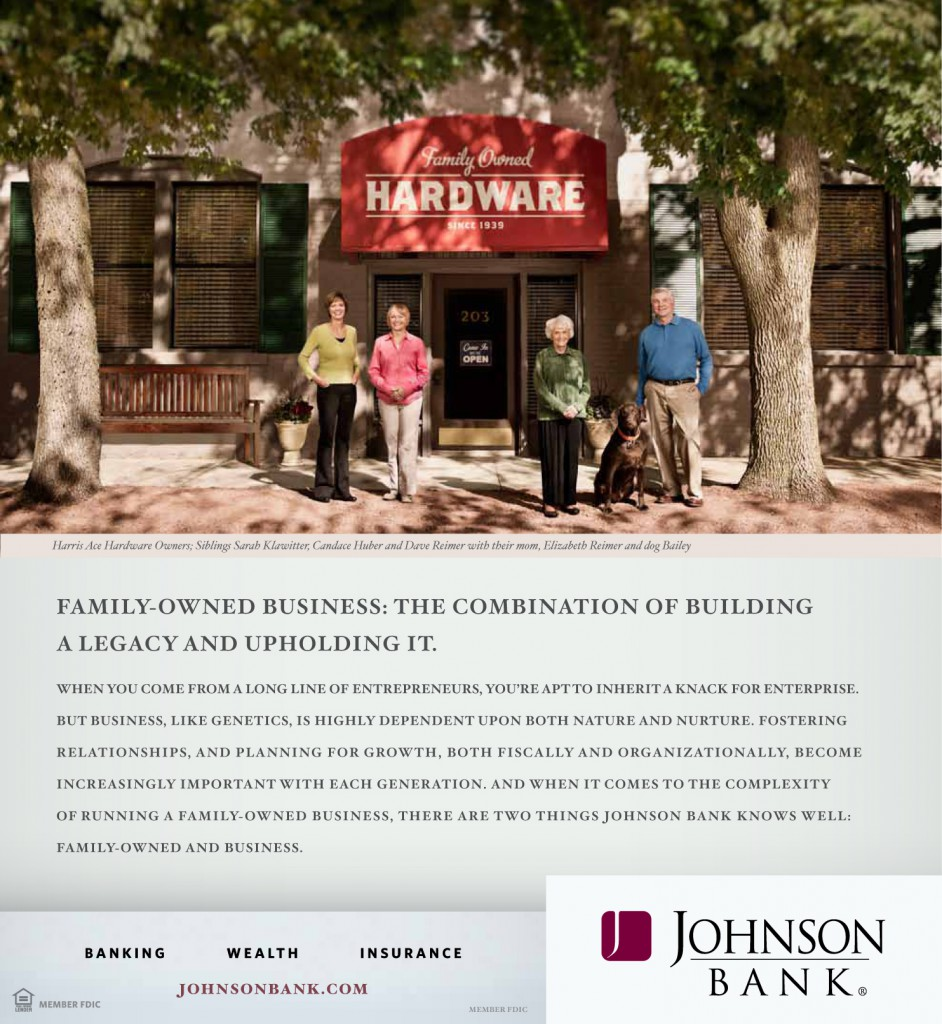"Johnson Bank ""Legacy"" Print Ad"