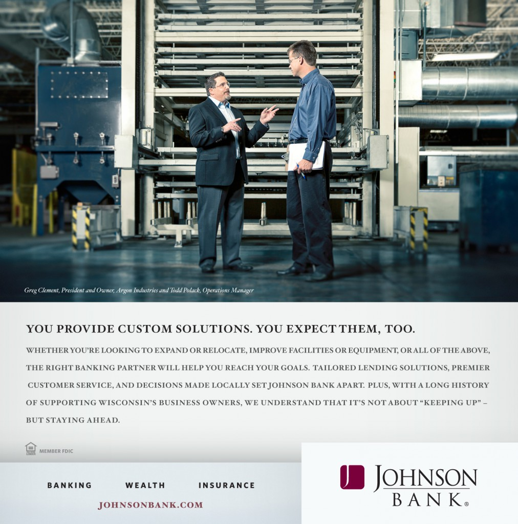 "Johnson Bank ""Custom Solutions"" Print Ad"