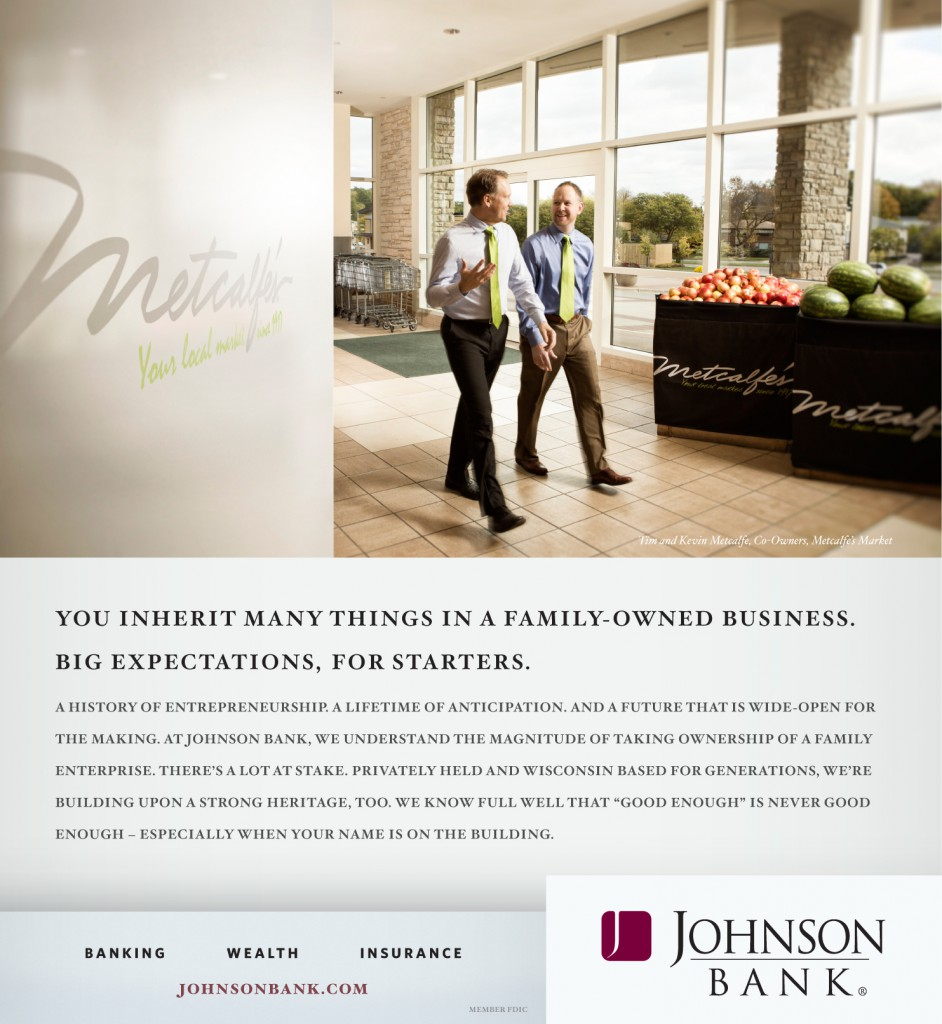 "Johnson Bank ""Expectations"" Print Ad"
