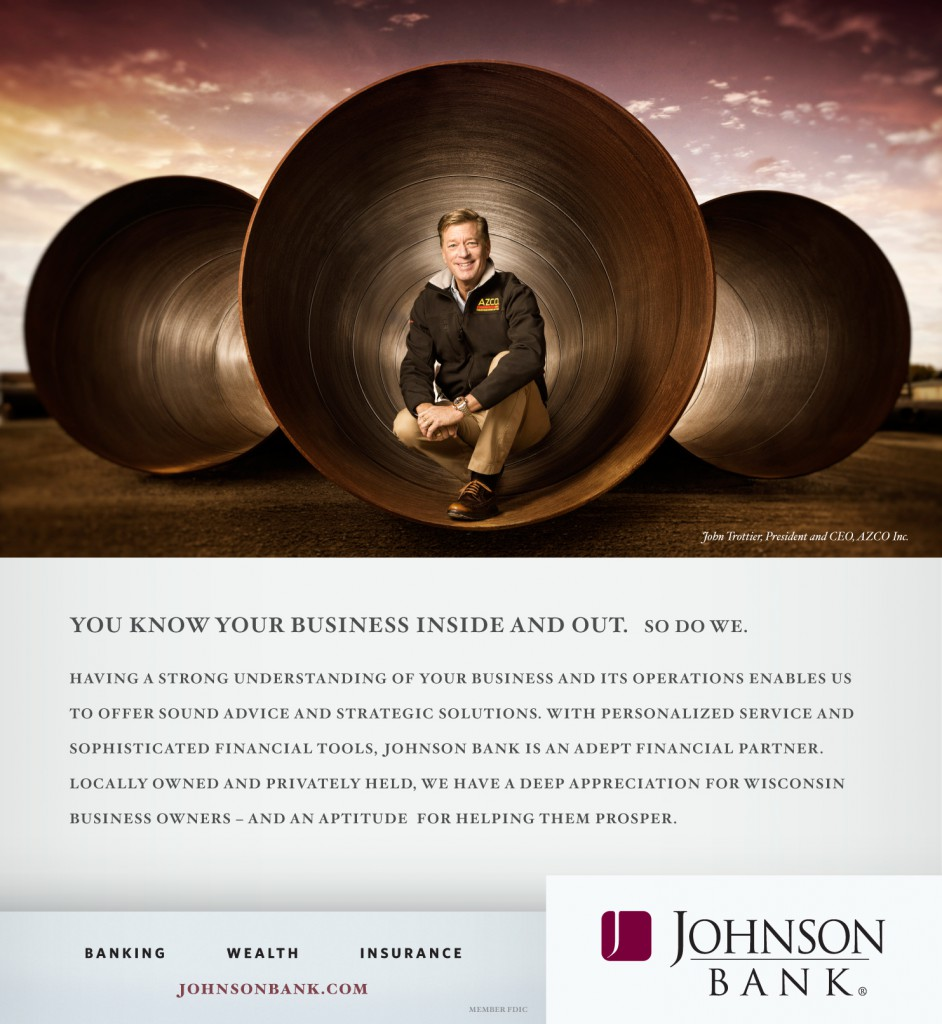 "Johnson Bank ""Inside Out"" Print Ad"
