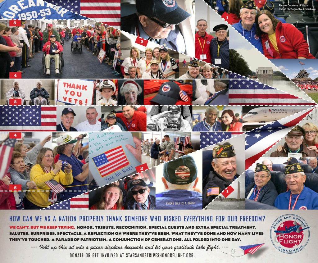 Stars and Stripes Honor Flight Print ad