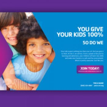 "YMCA Print Ad ""100%"" – Kids"